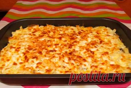 Рецепт моей свекрови: запеканка из тертого картофеля с сыром и чесноком - Рукодельные идеи