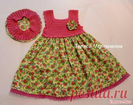 Наше второе комбинированное платье - Вязание для детей - Страна Мам