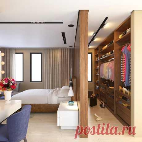 Проект спальни и гардеробной