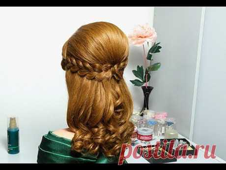 ▶ el peinado De fiesta con dos trenzas chinés para los cabellos largos. Romantic hairstyle for long hair - YouTube