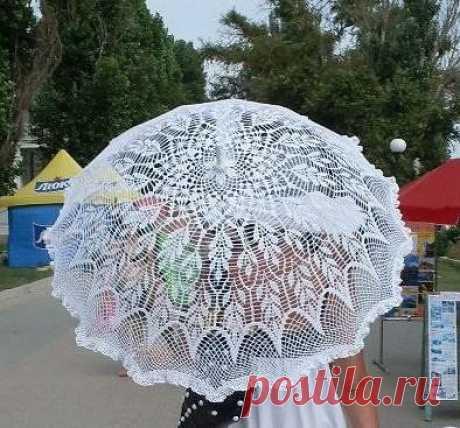 Ажурный летний зонтик