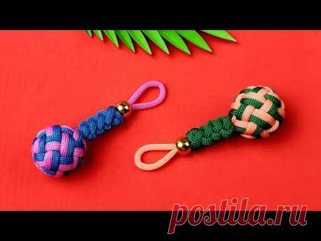 Super Easy Paracord Lanyard Keychain | How to make a Paracord Key Chain Handmade DIY Tutorial #10