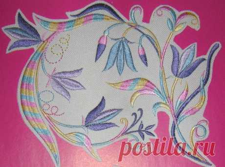 Колокольчики цветы бесплатно дизайн машинной вышивки