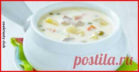 Сырный суп с куриной грудкой . Милая Я