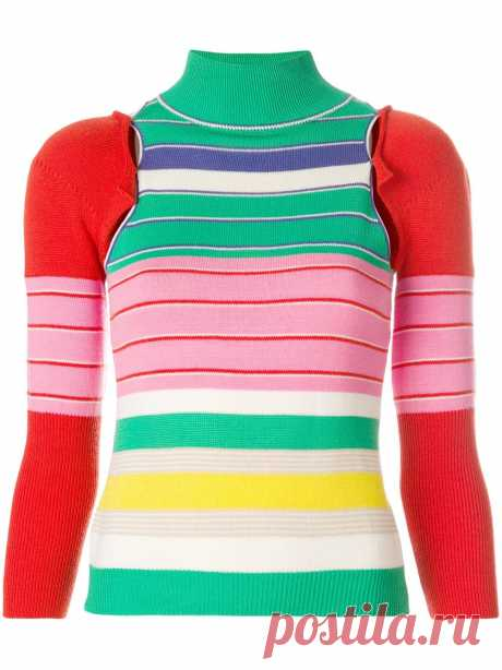 John Galliano Vintage | John Galliano Vintage removable sleeves knitted blouse - Multicolour | Shoppingscanner