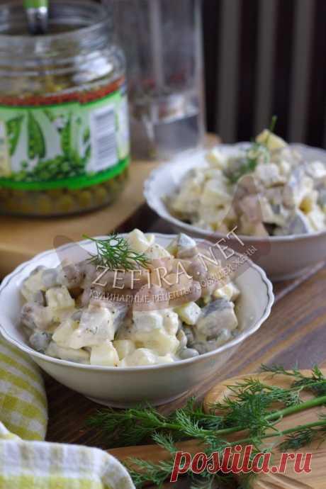 Простой салат с селедкой и яйцом — Кулинарные рецепты любящей жены