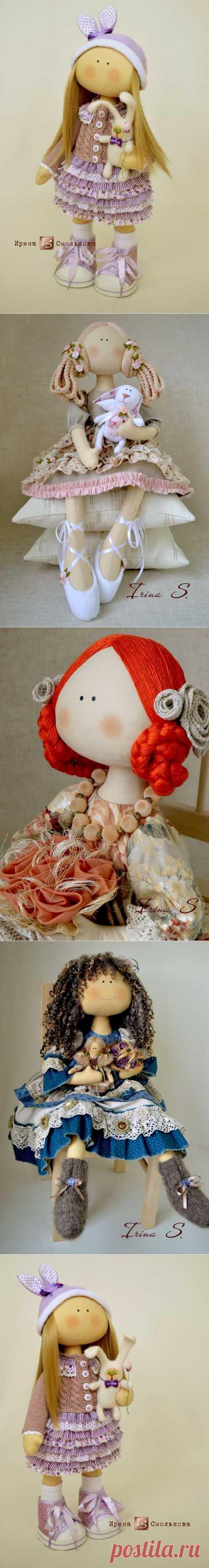 Очень нарядные куклы Ирины Смольковой.