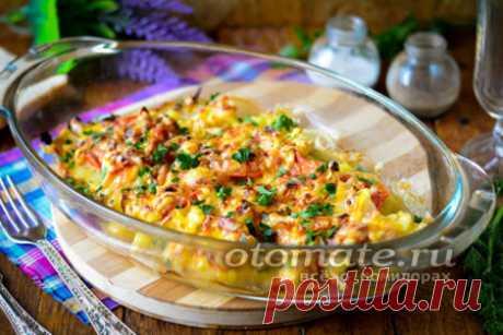 Рецепт курицы по-французски в духовке с картошкой и помидорами - пошаговый рецепт с фото