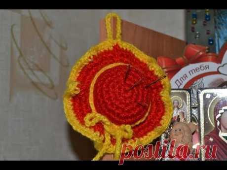"""""""Игольница крючком"""" (The crochet pin cushion)"""