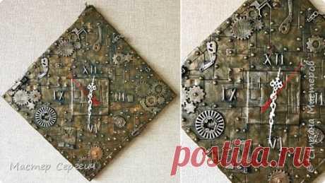 Крутая идея настенных часов в стиле Стимпанк своими руками | Страна Мастеров