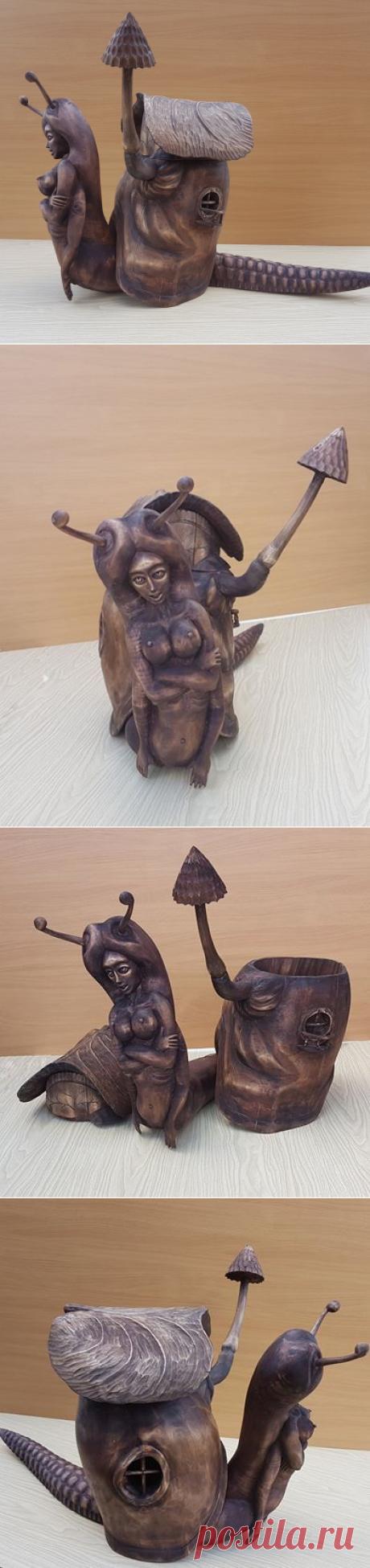 Материал-осина,размер-80х55х30 см.Называется-Без Ж\П...  Автор: Геннадий Горшков