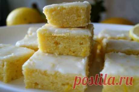 Лимонные брауни : Торты, пирожные