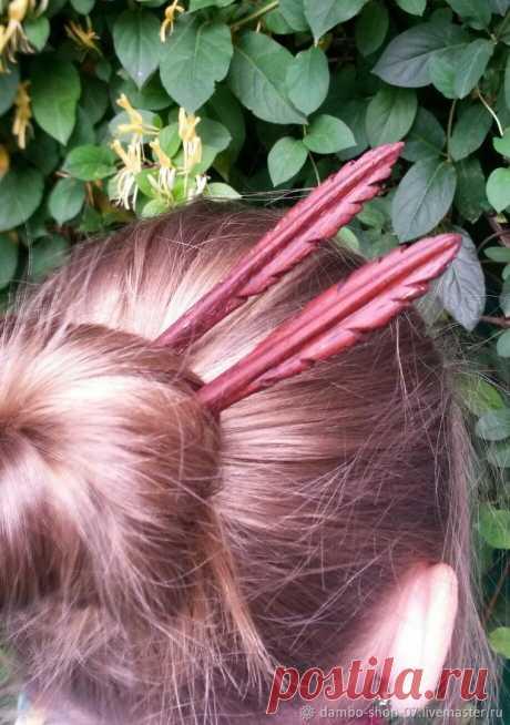 Шпилька деревянная ( красное дерево) – купить в интернет-магазине на Ярмарке Мастеров с доставкой - FYRLVRU | Нальчик