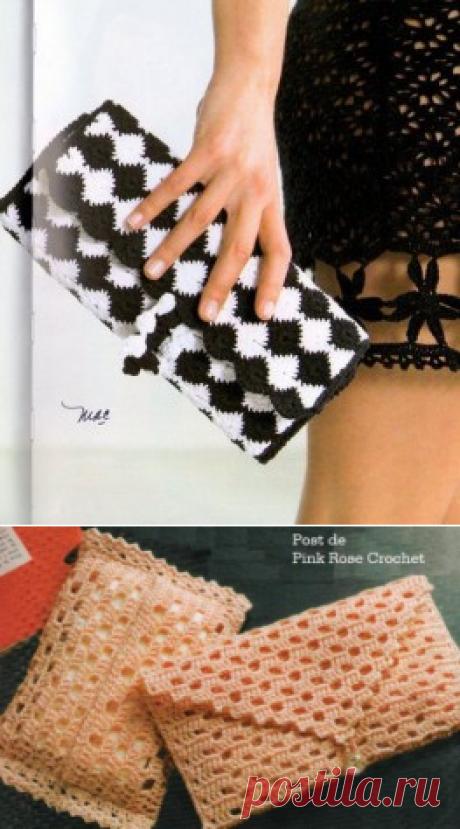 Модные вязаные сумочки крючком. Плюс схемы. | razpetelka.ru