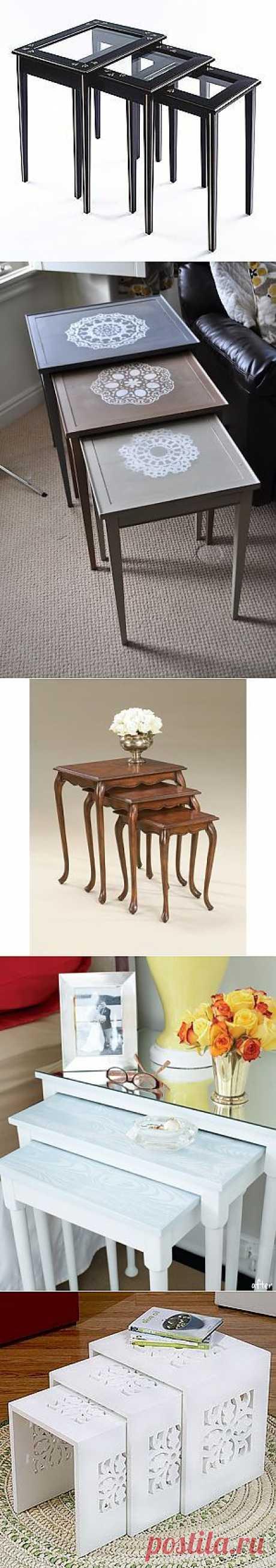 Складывающиеся столики - Nesting tables (трафик) / Мебель / Модный сайт о стильной переделке одежды и интерьера