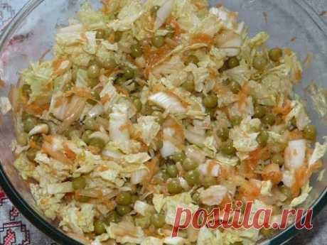 La ensalada simple magra de la preparación rápida. ¡De nada superfluo!