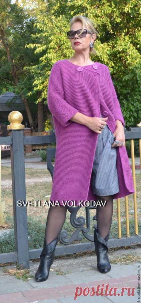 bdb63df389f Верхняя одежда ручной работы. Вязаное пальто