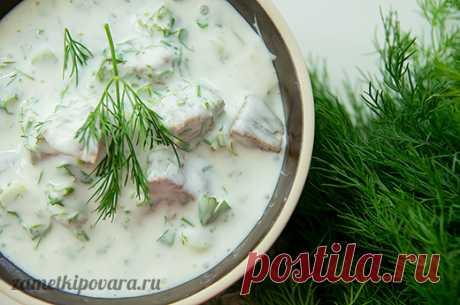 Холодный суп с хлебом и мацони | Простые кулинарные рецепты с фотографиями