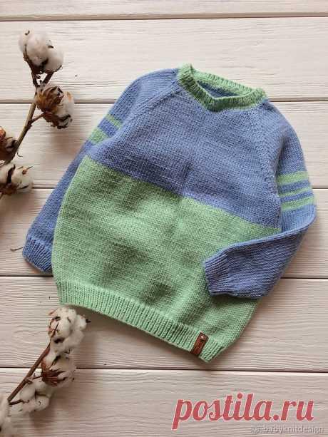 Мастер-класс смотреть онлайн: Вяжем спицами бесшовный свитер с круглой горловиной | Журнал Ярмарки Мастеров