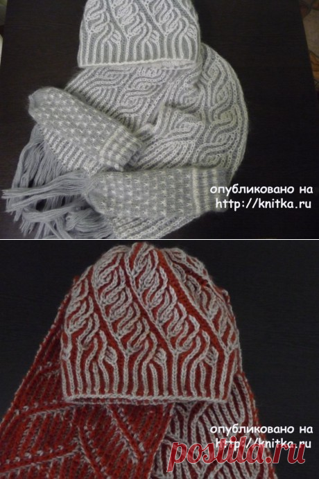 Шапочки и шарфы в технике бриошь. Работы Натальи Самойловой, Вязание для женщин