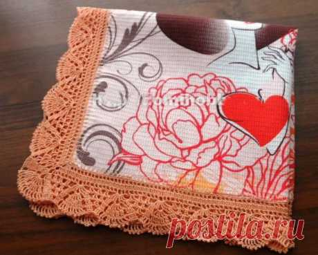 Knitting by a hook combined with fabric: schemes, description, video mk