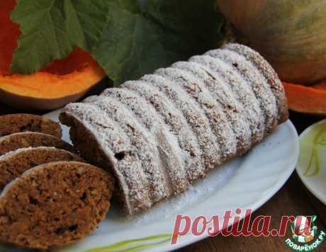 Шоколадно-тыквенный кекс с орехами – кулинарный рецепт