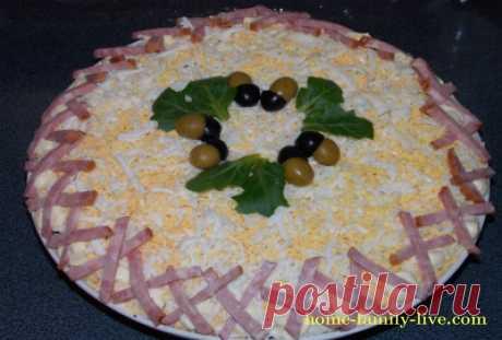 Салат Полянка/Сайт с пошаговыми рецептами с фото для тех кто любит готовить