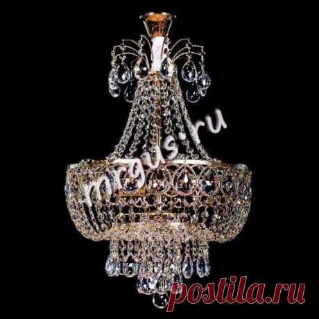 Хрустальная подвесная люстра Капель 5 ламп подвес -004 Гусь-Хрустальный