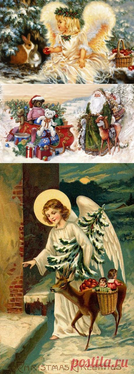 Открытки и иллюстрации. Рождество