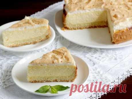 Нежный творожный пирог с белковым суфле, рецепт с фото