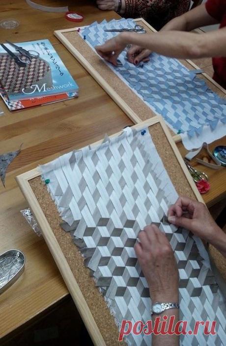 Японская, мозаичная техника плетения из ткани. Идеи - для вашей рукодельной копилки! | Юлия Жданова | Яндекс Дзен