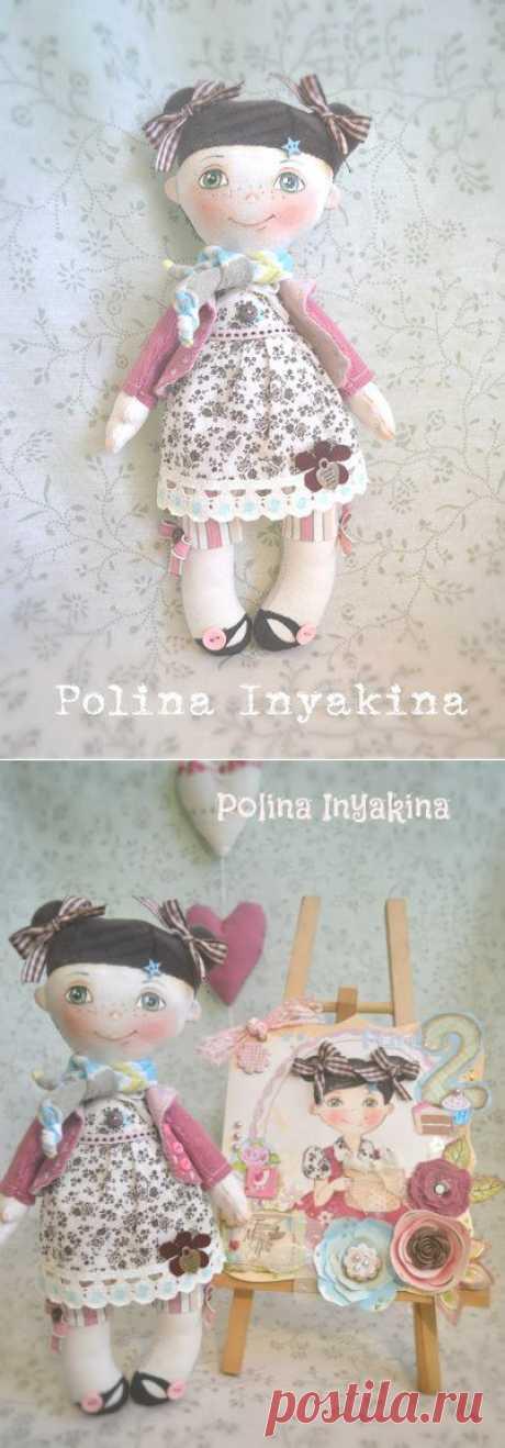 Маленькая куколка. Выкройка от Полины Инякиной / Разнообразные игрушки ручной работы / PassionForum - мастер-классы по рукоделию