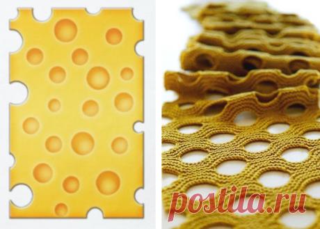 Узор Швейцарский сыр - спицами и крючком - для оригинальных легких шарфов и пуловеров | МНЕ ИНТЕРЕСНО | Яндекс Дзен