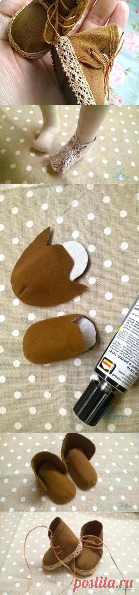 Создаем обувку для куколки - Ярмарка Мастеров - ручная работа, handmade