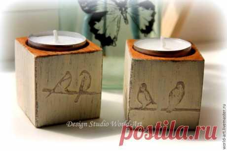 Мастер-класс по изготовлению стильных подсвечников в стиле шебби шик - Ярмарка Мастеров - ручная работа, handmade