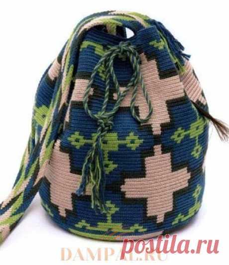 Вязаная сумка «Azulejo» | DAMские PALьчики. ru