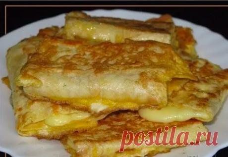 Лаваш с сыром в яйце. Завтрак за 5 минут