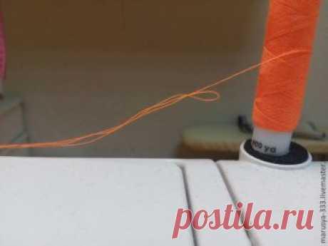 Как прострочить отделочную строчку в три нитки из одной катушки (Шитье и крой) — Журнал Вдохновение Рукодельницы