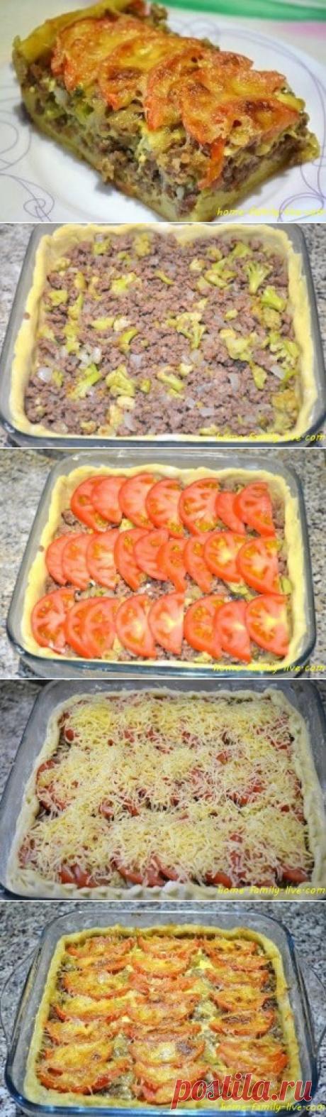 Мясной пирог из картофельного теста - Кулинарные рецептыКулинарные рецепты