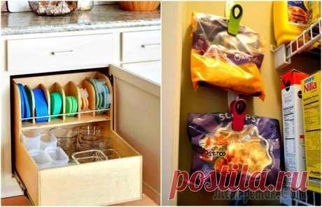 16 бюджетных и симпатичных систем хранения, которые помогут навести порядок на кухне Сложно найти хозяйку, которая была бы полностью довольна своей кухней. Одна из частых претензий - недостаточное количество мест для хранения различных предметов. Действительно, большинство довольствуе...