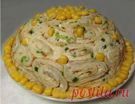 салат кружевница