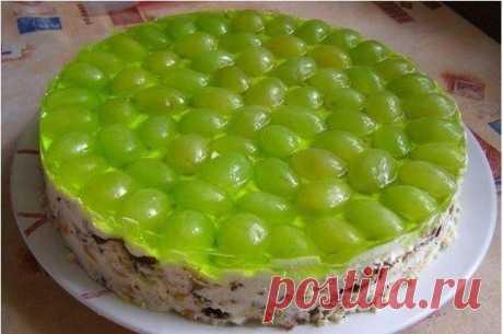 "Торт без выпечки ""Виноградинка"" | Готовим вместе"
