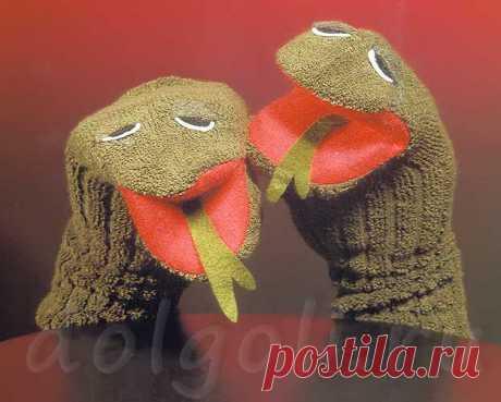 Игрушки из носков своими руками - змея для кукольного театра