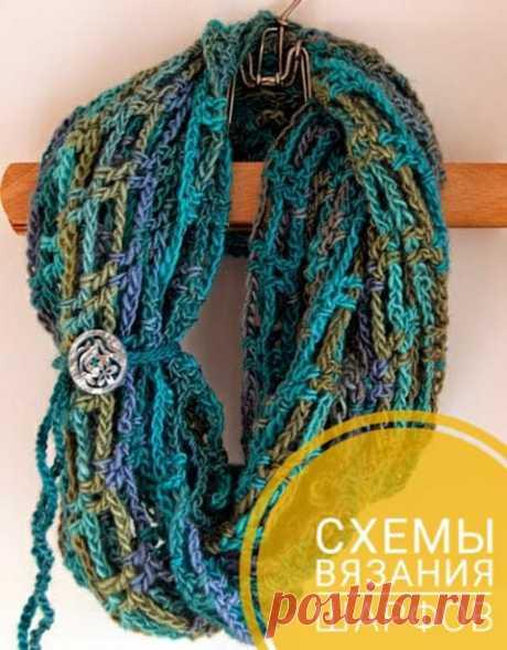 22 схемы и описания для вязания красивых шарфов крючком