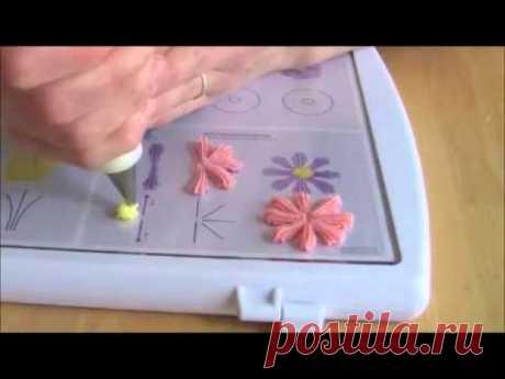 Как легко и быстро сделать ромашку из крема (украшение домашних тортов кремом)