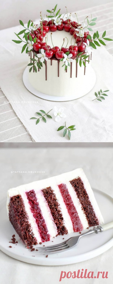Торт «Ароматная вишня» | HomeBaked
