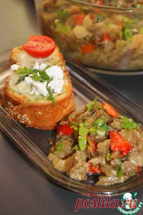 Салат из баклажанов и чесночный хлеб – кулинарный рецепт