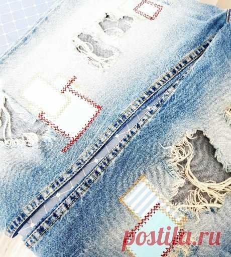 Как сделать заплатки на джинсах — Мастер-классы на BurdaStyle.ru