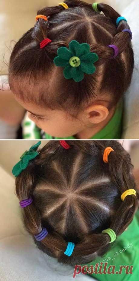 Огромное количество детских причёсок - более 40 идей