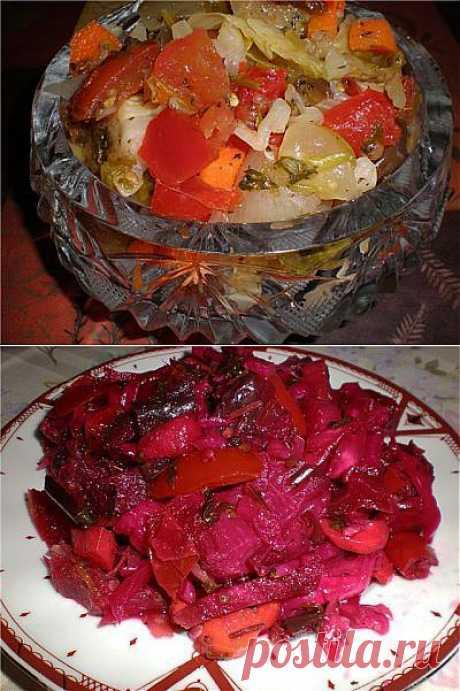 Азербайджанский салатик «Хeфтябечяр - Неделька» : Лечо, салаты